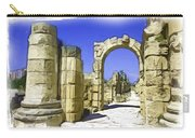 Do-00407 Roman Portico In Tyr Carry-all Pouch