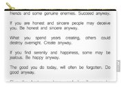 Do It Anyway By Mother Teresa 2 #minimalism #inspirational Carry-all Pouch