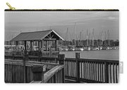 Dock At Mandarin Park Black And White Carry-all Pouch