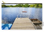Dock On Lake In Summer Cottage Country Carry-all Pouch by Elena Elisseeva