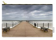 Dock With Benches, Saltburn, England Carry-all Pouch