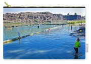 Docks Form Perimeter Of Dierkes Lake In Snake River  Near Twin Falls-idaho  Carry-all Pouch