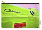 Dodge Challenger In Sublime Green Carry-all Pouch