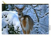 Doe In The Snow In Spokane 2 Carry-all Pouch