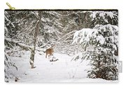 Doe In Winter Snow  Carry-all Pouch
