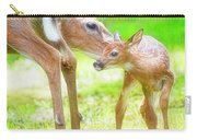Doe Nuzzles Her Fawn Carry-all Pouch
