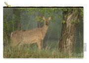 Doe On A Foggy Morning In Wyoming Carry-all Pouch