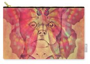 Dog And Butterfly Carry-all Pouch