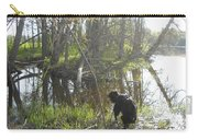 Dog Exploring Mississippi River Bank Carry-all Pouch