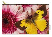 Dog Face Butterfly On Pink Mums Carry-all Pouch