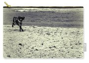Dog Frolicking On A Beach Carry-all Pouch