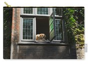 Dog In A Window Above The Canal In Bruges Belgium Carry-all Pouch