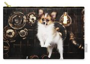 Dog On A Dark Background In The Style Of Steampunk Carry-all Pouch