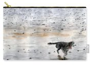 Dog On Beach Carry-all Pouch
