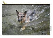 Dog Swimming In Cold Water Carry-all Pouch