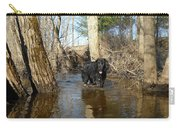 Dog Wading In Swollen River Carry-all Pouch
