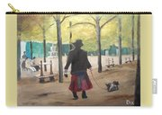 Dog Walker In A Paris Park Carry-all Pouch