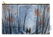 Dog Walking 2, Watercolor Painting Carry-all Pouch