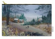 Dog Walking, Watercolor Painting  Carry-all Pouch