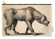 Dog With Rabies, Engraving, 1800 Carry-all Pouch