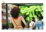 Dog Woman Walk Nyc Paint  Carry-all Pouch