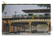 Dogs And Trains In The Village Carry-all Pouch