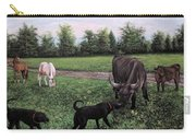 Dogs Meeting Bull Carry-all Pouch