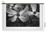 Dogwood Blossoms Bw Poster Carry-all Pouch