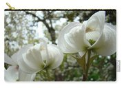 Dogwood Flowers White Dogwood Trees Blossoming 8 Art Prints Baslee Troutman Carry-all Pouch