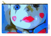 Doll In Blue Carry-all Pouch