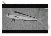 Dolphinfish In Grayscale Carry-all Pouch