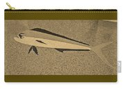 Dolphinfish In Sepia Tones Carry-all Pouch