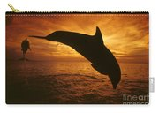 Dolphins And Sunset Carry-all Pouch