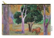 Dominican Landscape Carry-all Pouch by Paul Gauguin