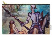 Don Quixote With Dragon Carry-all Pouch