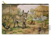Donkey And Farmyard Fowl  Carry-all Pouch