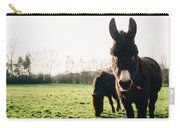 Donkey And Pony Carry-all Pouch