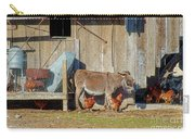 Donkey Goat And Chickens Carry-all Pouch
