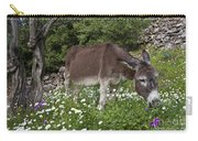 Donkey Grazing In Greece Carry-all Pouch