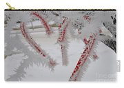 Don't Break My Heart-unique And Rare Formation Of Spiked Snow Icicles  Carry-all Pouch
