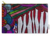 Doodle Page 6 - Bones And Curtains - Ink Abstract Carry-all Pouch