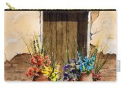 Door With Flower Pots Carry-all Pouch