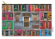doors and windows of Burano - Venice Carry-all Pouch