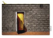 Doorway To A Yellow Curtain Carry-all Pouch