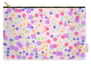 Dots On Pink Background Carry-all Pouch