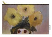 Dotted Vase With Yellow Flowers Carry-all Pouch