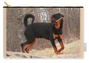 Rottie With A Tail And Stick Carry-all Pouch