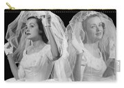 Double Exposure Portrait Of Bride Carry-all Pouch