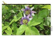Double Passion Flowers Carry-all Pouch