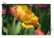 Double Petal Yellow Tulip Carry-all Pouch